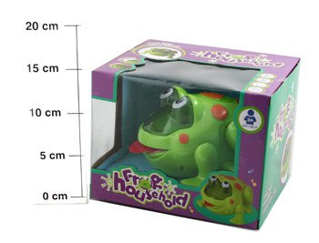 Игр.пласт.на бат. Смешная Лягушка ВОХ 19*16*15см Frog Household, арт.0803