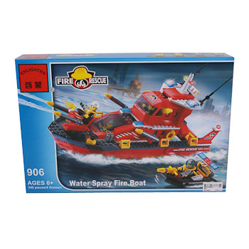 Конструктор пласт. Fire Rescue, 340 дет, 41*28*6,5см, BOX, ENLIGHTEN  арт.906