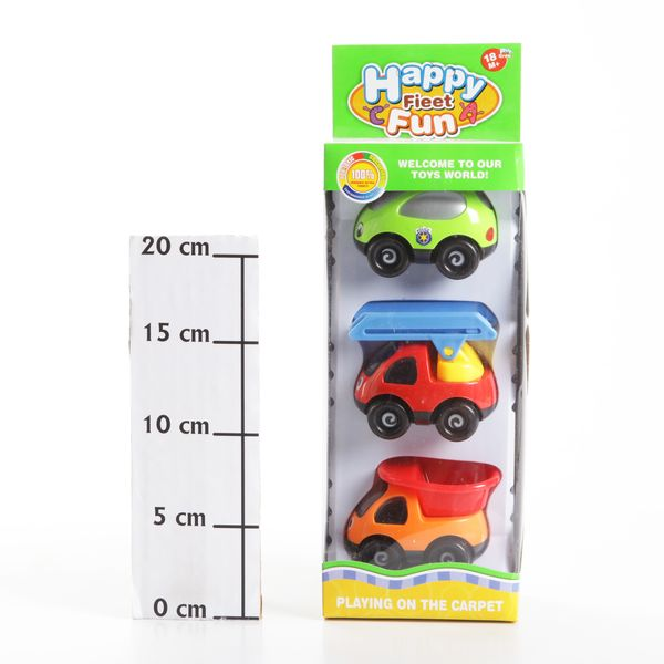 Набор маш.,3 вида, Happy Fieet Fun, BOX 11х25,5х7 см., арт. KY328ABC