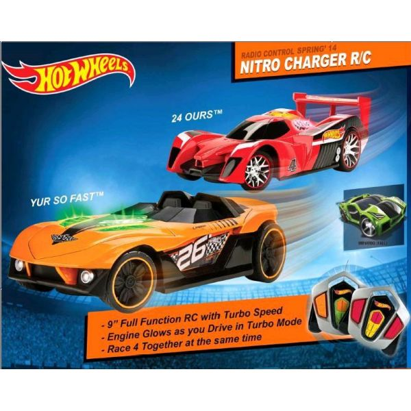 МАШИНА TOYSTATE HOT WHEELS NITRO CHARGER RC - ЗАРЯД АЗОТА, РУ, В АССОРТ. В КОР.