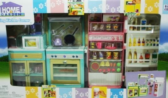 кухня для барби холодильник и плита от интернет магазина пчелёнок