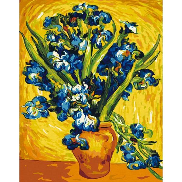 Раскраски по номерам. Картина Ирисы Ван Гог от интернет ...