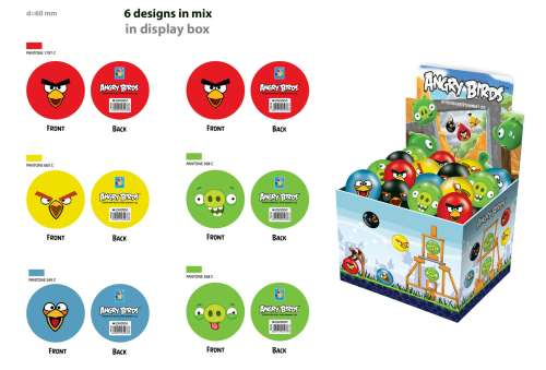 1toy Angry Birds ����� ��� ��� 6 ��, 6�.(4 �����, 2 ������)