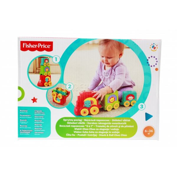МАТТЕЛ. FISHER-PRICE® КУБИКИ-БЛОКИ ПАРОВОЗИКИ