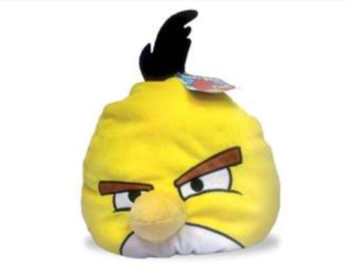 Angry Birds декоративная подушка желтая птица Yellow bird 25см