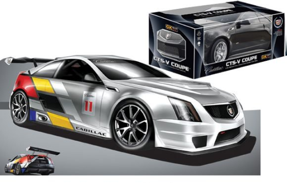 Машина ру 1 : 18 Cadillac CTS-V coupe, 4 канала