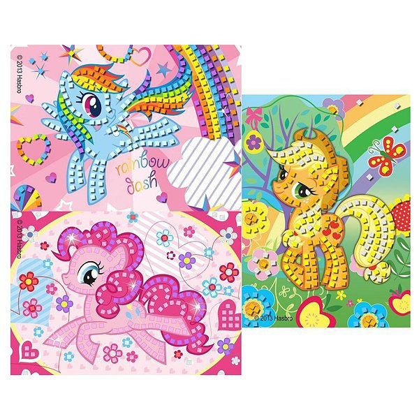 НАБОР ДТВОРЧЕСТВА MULTIART МОЗАЙКА ПО НОМЕРАМ MY LITTLE PONY В КАРТ. КОНВЕРТЕ