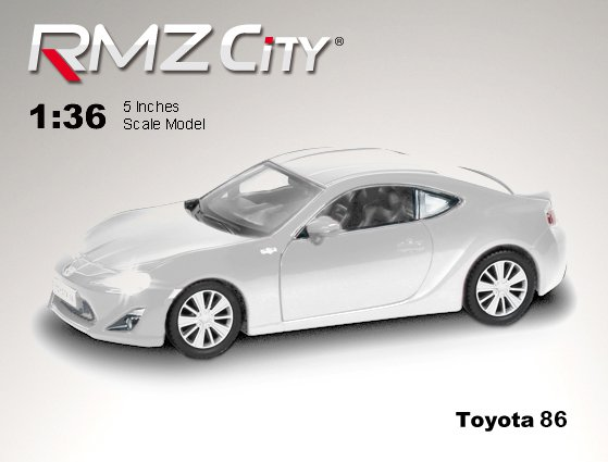 Метал.инерц. модель М1:32 RMZ CITY Toyota 86, арт.554020.