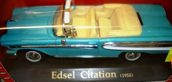 Модель Edsel Citation (1958)  И Chevrolet bel air (1957)