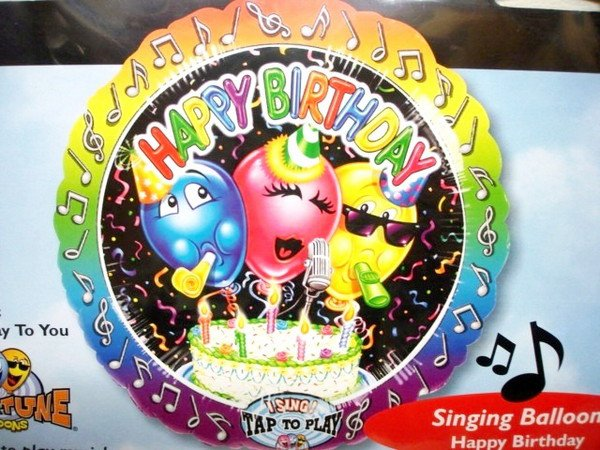 Музыкальный шар Singing BalloonHappy Birthday