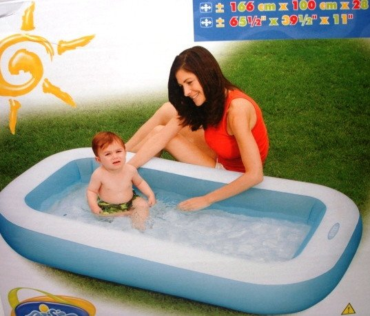 Над.бассейнRectangular Baby Pool166х100х28см.(от 1-3х лет)