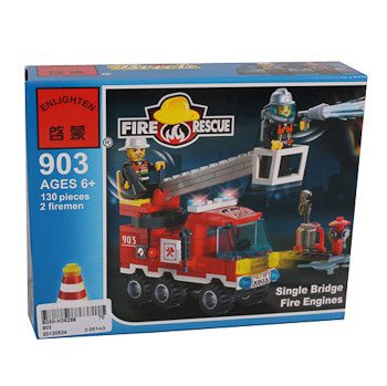 Конструктор пласт. Fire Rescue, 130 дет, 18*14*4,5см, BOX, ENLIGHTEN арт.903