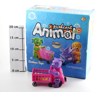 Завд.игр. Набор 8шт. 28*26*15см Животное с тележкой Pushcart Animal, арт.BB-1