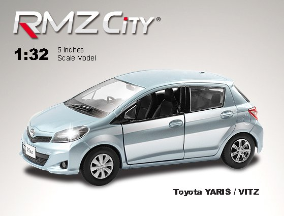 Метал.инерц. модель М1:32 RMZ CITY Toyota Yaris, арт.554013.