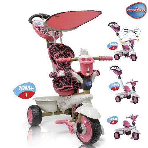 Smart Trike Dream Touch Steering, EVA колёса,3-точ.рем.,мягкая накидка,сумка.,ножн.торм.,держ.для бу