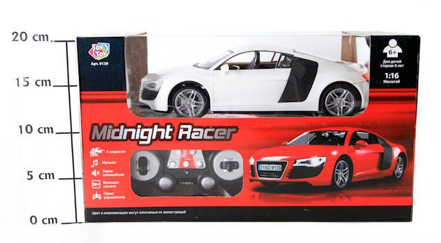 Упр.радио маш. Joy Toy Midnight Racer (свет,звук) ВОХ 27*12см, аккумадапт, арт.22319139