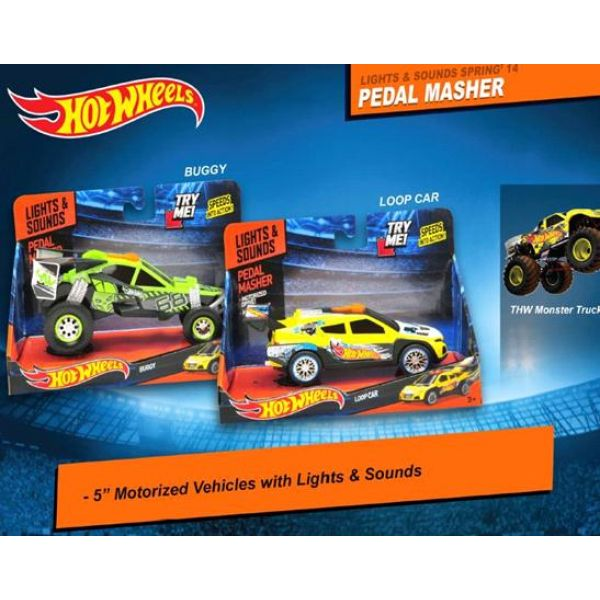 МАШИНА TOYSTATE HOT WHEELS ЖМИ НА ГАЗ, НА БАТ. СВЕТ+ЗВУК, В АССОРТ. В КОР.