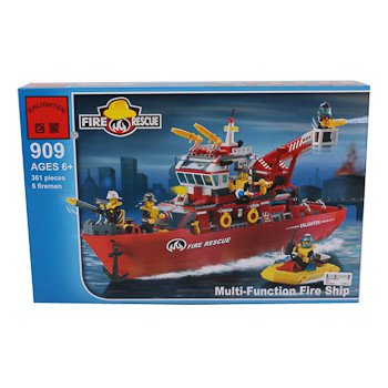 Конструктор пласт. Fire Rescue, 361 дет, 48*32*6,5см, BOX, ENLIGHTEN  арт.909