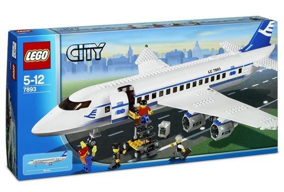 лего сити пассажирский самолет
