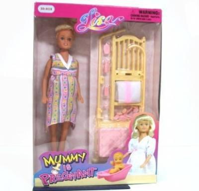 Беременная кукла с коляской и щенком купить - 47