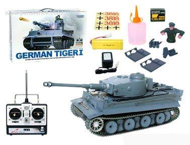 Радуиоправляемый танк тигр 1 с дымом