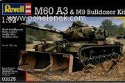 Танк M60A3 with M9 bulldozer kit; 1:72. Фото 2