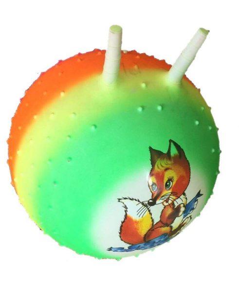 Мяч-прыгун Радужный 50 см, массажн., в ассорт.