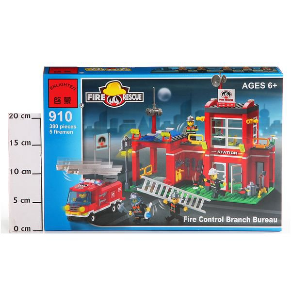 Конструктор пласт. Fire Rescue, 380 дет, 41*28*6,5см, BOX, ENLIGHTEN арт.910. Фото 2