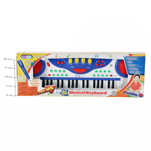Синтезатор с микрофоном My First Musical Keyboard, 65*22*9см, Box,арт.11041. Фото 1