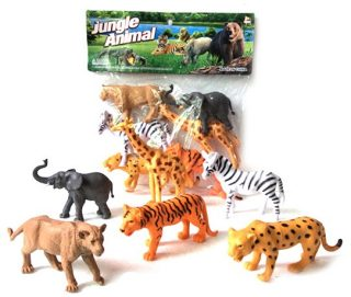 Набор диких животых Jungle animal, 13см, 6шт.