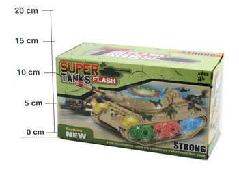 Пласт.игр.на бат.ВОХ 23*12см Танк (свет) Super Tanks, арт.132. Фото 1