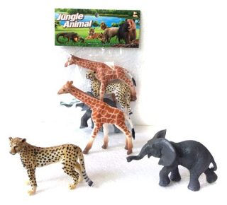 Набор диких животых Jungle animal, 8см, 3шт.-1