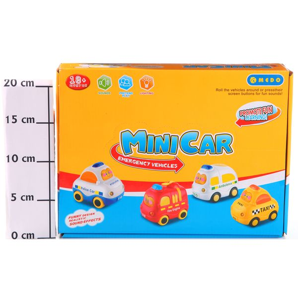 Набор машин  8шт.Mini Car ,BOX 29x22x7,5см, арт.MD1124.0. Фото 2