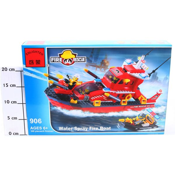 Конструктор пласт. Fire Rescue, 340 дет, 41*28*6,5см, BOX, ENLIGHTEN  арт.906. Фото 2