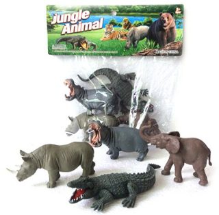 Набор диких животых Jungle animal, 13см, 4шт.