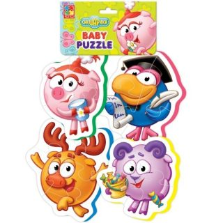 Пазлы мягкие Baby puzzle Смешарики-3