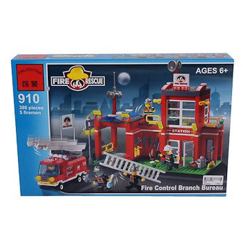 Конструктор пласт. Fire Rescue, 380 дет, 41*28*6,5см, BOX, ENLIGHTEN арт.910. Фото 1
