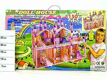 Дом для куклы с мебелью ВОХ 150 дет. 222