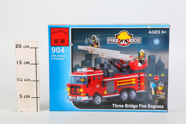 Конструктор пласт. Fire Rescue, 364 дет, 35*26*5,5см, BOX, ENLIGHTEN арт.904. Фото 1