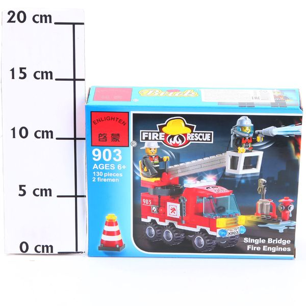 Конструктор пласт. Fire Rescue, 130 дет, 18*14*4,5см, BOX, ENLIGHTEN арт.903. Фото 2