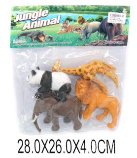 Набор диких животых Jungle animal, 13см, 4шт.-1