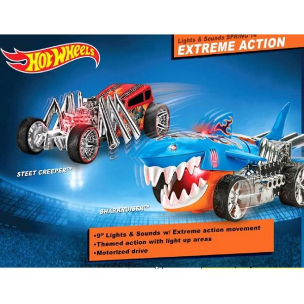 МАШИНА TOYSTATE HOT WHEELS ЭКСТРИМАЛЬНЫЕ ГОНКИ, НА БАТ. СВЕТ+ЗВУК, В АССОРТ. В КОР.. Фото 1