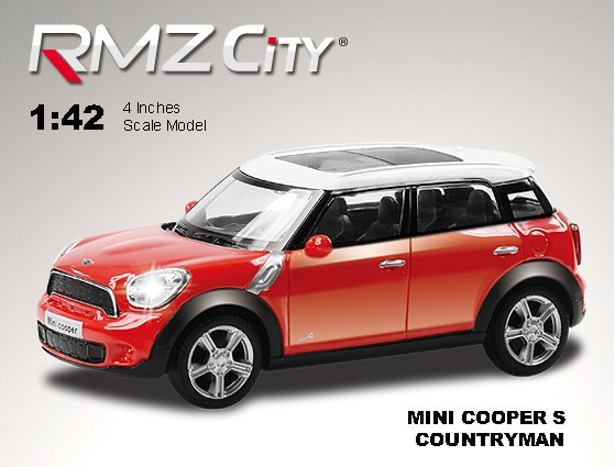 Метал. модель М1:43  RMZ CITY Mini Cooper S Countryman, арт.444008.