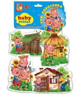 Пазлы мягкие Baby puzzle Сказки Три поросенка-1