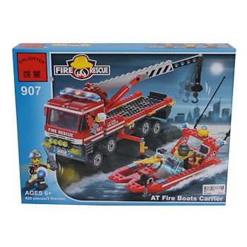 Конструктор пласт. Fire Rescue, 420 дет, 37*29*5,5см, BOX, ENLIGHTEN арт.907. Фото 1