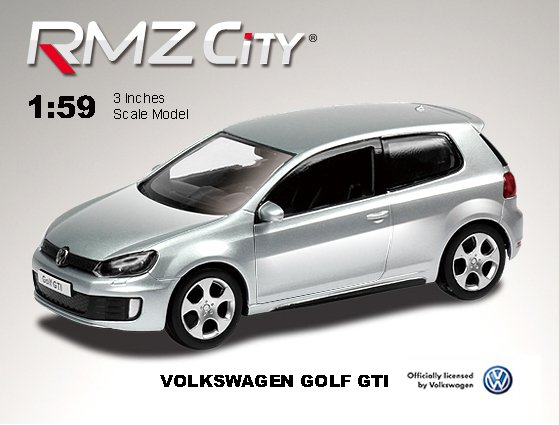 Метал. модель 3 (М1:64)  RMZ CITY Volkswagen Golf A6 GTI, арт.344021.. Фото 1