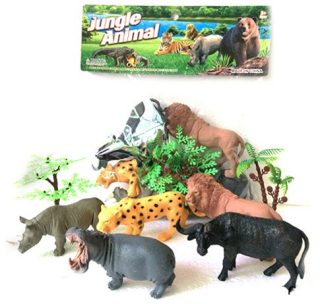 Набор диких животых Jungle animal, 13см, 5шт.