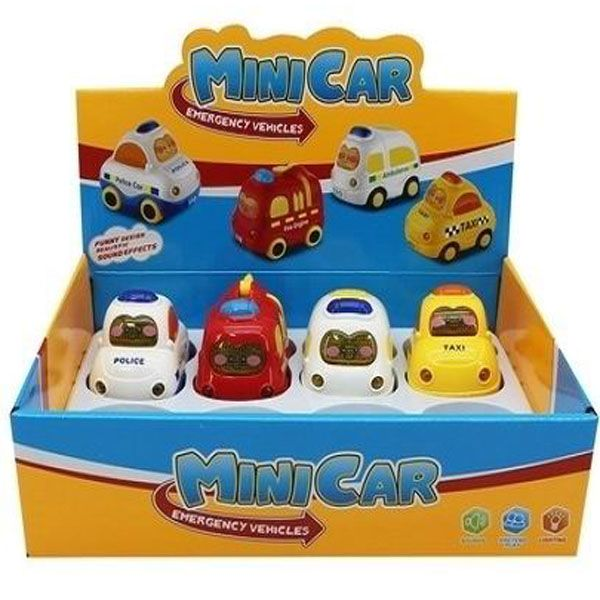 Набор машин  8шт.Mini Car ,BOX 29x22x7,5см, арт.MD1124.0. Фото 1