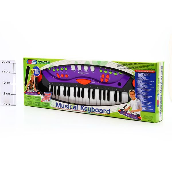 Синтезатор с микрофоном Musical Keyboard, 37клавиш, 65*22*7см, Box,арт.77037